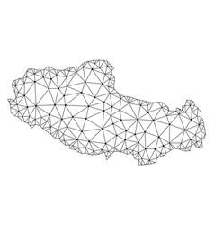 Polygonal network mesh map of tibet vector
