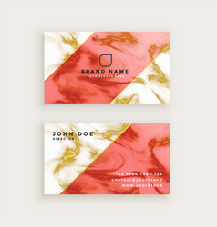 Professional business card design in marble vector