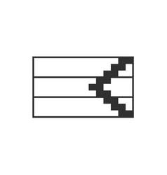 Republic of artsakh flag icon in black outline vector