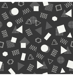 Retro memphis geometric line shapes seamless vector
