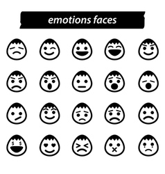 Set of icon emotions face vector image