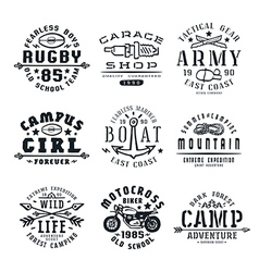Set of team sports emblems vector