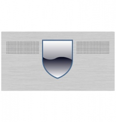 shield background vector image