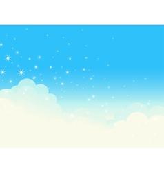 Shiny cloudscape vector image vector image
