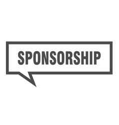 Sponsorship sign sponsorship square speech bubble vector