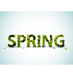 Spring lettering vector