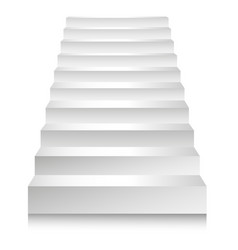 Stairs or staircases and podium ladders vector