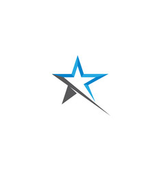 star logo template vector image
