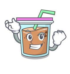 Successful bubble tea character cartoon vector
