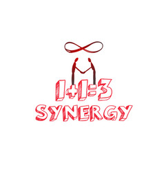 Synergy concept hand drawn vector