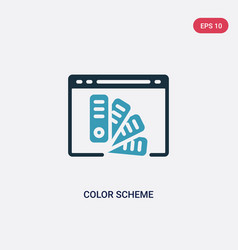 Two color color scheme icon from web hosting vector