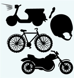 Two-wheeled vehicles vector image