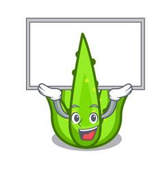 up board aloevera character cartoon style vector image