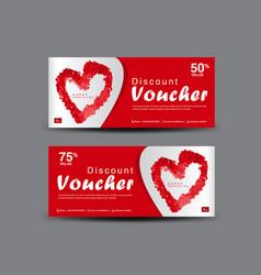 Valentines day discount voucher gift voucher temp vector