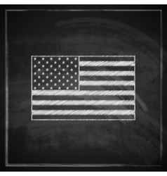 vintage with United States flag on blackboard vector image
