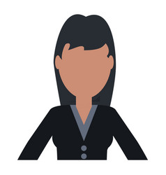 Woman faceless avatar vector