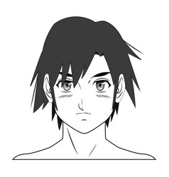 Young guy anime boy character manga vector