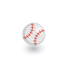 baseball ball isometric flat icon 3d vector image vector image