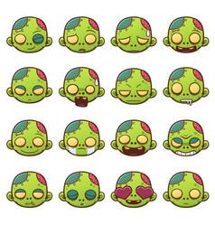 emoji icons vector image vector image