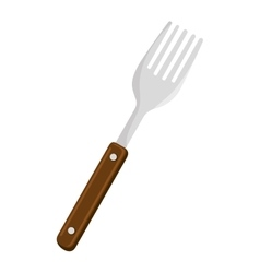 fork cutlery tool isolated icon vector image