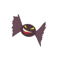 Halloween bat icon in cartoon style vector image