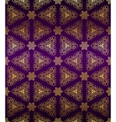 purple and gold seamless arabesque vector image