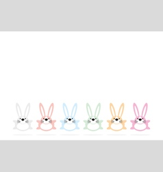 Set of six colorful easter bunnies vector image vector image