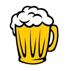 Tankard full of golden frothy beer vector image