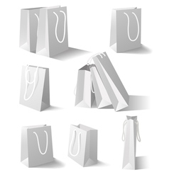 White paper bags set vector image