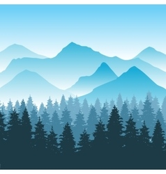Abstract hiking adventure background with vector image vector image