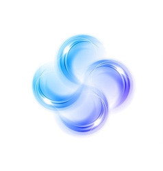 abstract shape quarterfoil blue vector image vector image