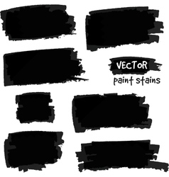 Black paint spots set vector