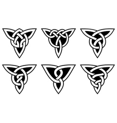 celtic knot set vector image vector image