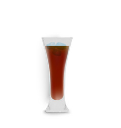 Cocktail realistic alcoholic beverage color vector
