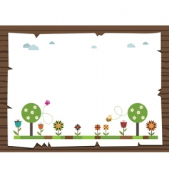 nature sign vector image vector image