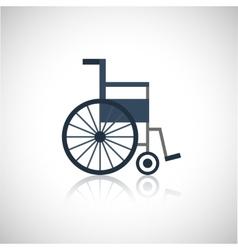 Wheel chair icon flat vector image vector image