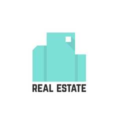 abstract mint real estate logo vector image vector image
