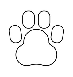 Animal footprint black color icon vector