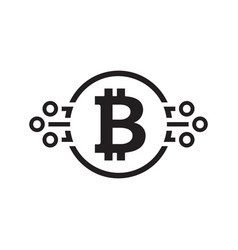 bitcoin cryptocurrency icon vector image vector image