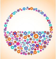 floral basket vector image vector image