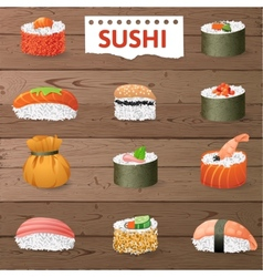 Great sushi set vector image vector image