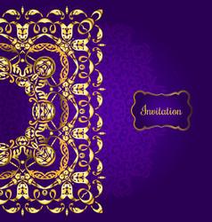 invitation card design vector image vector image