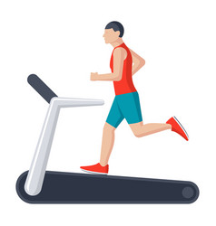 running on treadmill vector image vector image