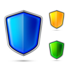 Three abstract shield for creative design vector