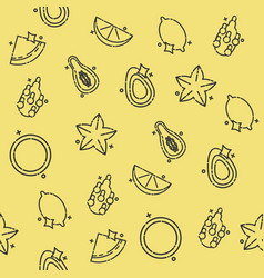 tropical fruit concept icons pattern vector image vector image