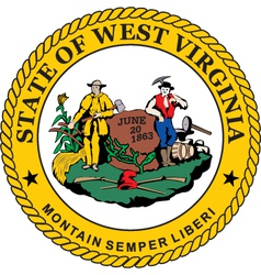 West Virginia seal vector image vector image