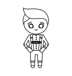 Bavarian costume icon vector