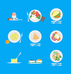 cartoon breakfast menu for home hotel cafe or vector image