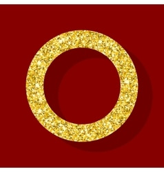 golden figure ring vector image vector image