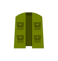 green hunter vest icon flat style vector image vector image